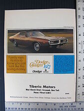 1972 Dodge Charger Polara Pickup Truck Advertising Print Ad Dodge Magazine 1971