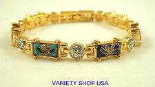 Multi Colored Cloisonne Beads & Kanji Gold Plated Magnetic Bracelet  5107CLMULTI
