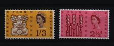 1963 Freedom from Hunger FFH Phosphor Phos set neuf sans charnière SG634p - 635p