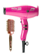 Parlux 385 PINK FUCHSIA Hair Dryer Powerlight Ceramic Ionic + FREE Brush + 2 Noz