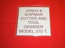 JONES & SHIPMAN 310 T Cutter e Smerigliatrice Strumento Manuale su CD.