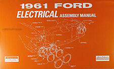 1961 Ford Electrical Wiring Assembly Manual Galaxie Fairlane Starliner Sunliner