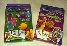 Disney Pooh & Friends Early Skills Word Number Learn Flash Card Game 2 Pack New