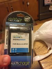 New Digital Energy battery With Charger base fits motorola bp6x , Droid,,Cliq,