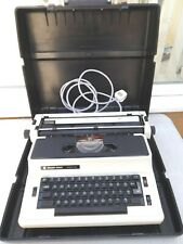 VINTAGE ELECTRIC SILVER REED 2500SL TYPEWRITER,SERVICED,CLEANED,NEW INK,CASE,VGC