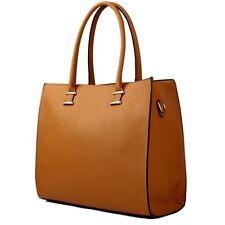 Sac à main pour femme Schulter- à porter Scolaire K. cuir XL Grand marron clair
