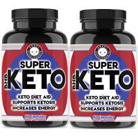 Super Keto Diet Pill BHB Weight Loss Supplement, Support Ketosis, Keto Diet, 2PK