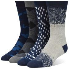 Men's Dress Socks - Blue Gray Luxury Collection (4 Premium Pairs)