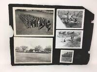 Real Photographs Marines Military Hunters Rifles Guns Vintage B&W 11 Photos