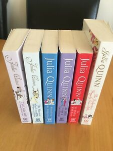 Bridgerton Books x 6 Series 1-5 & Happily Ever After Julia Quinn Paperback