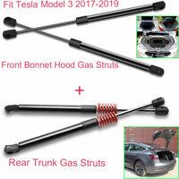 For Tesla Model3 2017-19 Vehicle Front Bonnet Hood+Rear Trunk Tailgate Gas Strut