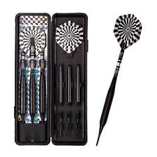3pcs Soft Tip Darts 21 Grams Black Barrel Dart Set Aluminum Shaft Flights Games