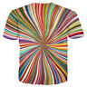 Women Men 3D T-Shirt Hypnosis Funny Colorful Print Casual Short Sleeve Tops Tee