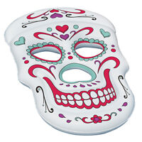 Swimline Giant Inflatable 62-Inch Sugar Skull Swimming Pool Island Raft | 90555