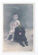 Animal CHIEN Chiens DOG dogs 30 carte fantaisie caniche royal noir et enfant