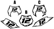 2013 KTM 200XC-W Custom Pre-Printed White Backgrounds with Black Shock Series