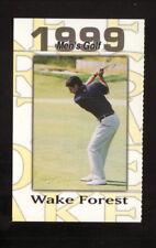 Wake Forest Demon Deacons--1999 Golf Pocket Schedule--Nike