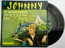 EP Johnny Hallyday Les mauvais garçons 45T BIEM 434905BE Bon état