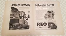 REO 18 print ads FortuneSaturdayEveningPostDunsReviewandModernIndustry 1944-1955