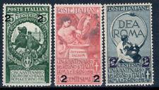 REGNO D' ITALIA 1913 UNITA' D'ITALIA SOPRASTAMPATA 3 V. G.I**