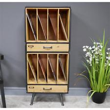 Industrial Retro Filing Cabinet Rustic Storage Shelf Metal Unit Hallway Office