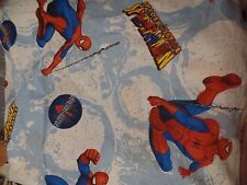Spiderman Spider Sense Twin Fitted Sheet Marvel Comics Fabric Bright Colors