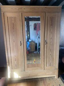 Antique Pine Knock Down Wardrobe
