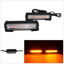 2 Pcs 12/24V Amber COB LED Car Truck Flash Strobe Beacon Lights Emergency Lamps