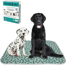 rocket  rex Washable Dog Pee Pads. Dog Training Pads, Waterproof, Reusable Dog