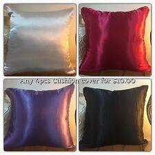 Any 4 X Silk Satin Cushion Covers For $10.00 42cmx42cm