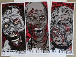 Zombies of The Walking Dead Art Print Poster Set Greg Nicotero and Danny Miller