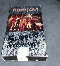 BON JOVI Slippery When Wet Video VHS 1987 Livin' On A Prayer Wanted Dead Alive