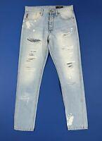 Jack jones sco kim erik jeans uomo usato destroyed boyfriend W32 L34 tg 46 T5900