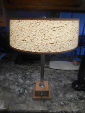 Vintage MCM Control Research Chrome Desk / Table Lamp Dual Light Leather Base