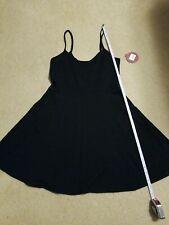 NWT So Spaghetti Strap Skater Dress Juniors L Black