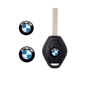 2 x BMW Key Fob Badge Logo Emblem Replacement Sticker 11mm Diameter