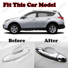 For Toyota RAV4 2013-17 Chrome Door Handle Cover Cap Trim Catch Garnish Overlay