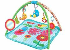Baby Playmat Gym Colourful Flower Garden Activity Play Mat With Fun Sensory Toys