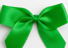 5cm Satin Bows - Green Self Adhesive Pre Tied 16mm Ribbon Pack 12 FREE P&P