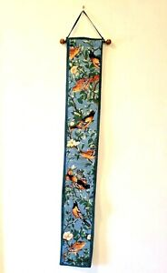 "Wall Tapestry Bell Pull Orioles Birds  By Dan Gilbert 41"" x 5.75"""