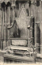 London. Westminster Abbey. Coronation Stone Chair 46 by LL / Levy. Black & White