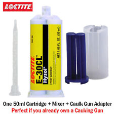 Loctite EA-Hysol E-30CL 30-Min Low Viscosity Clear Epoxy-50ml+Caulk Gun Adapter