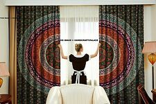 Indian Urban Floral Mandala Curtains Tapestry Drapes Window Valances Boho Set