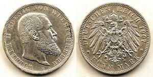Alemania - Wilhelm II. 5 Marcos 1907 F. Frankfurt. EBC/XF. Plata 27,6 g.