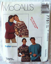 Fleece Top Sewing Pattern - Unisex Sizes S-L - Polar Gear - McCall's 7781 Uncut
