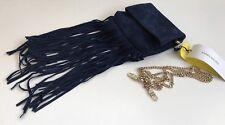 Karen Millen Navy Blue Suede Leather Crossbody Shoulder Bag New with Tags GS