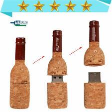 1-64GB Wine Bottle Corks Flash Drive Pen Drive Pendriver Mini USB Memory Stick-