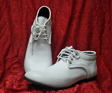 ZYKO Professional Real Leather Clown Shoes Chaplin White model   (ZH028)