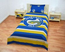 PARRAMATTA Eels NRL Quilt Doona Duvet Cover Pillow Case Set - Double Sided Single