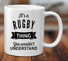 Rugby Sport Funny Quote Mug - Ceramic 330ml Collectable Gift Present